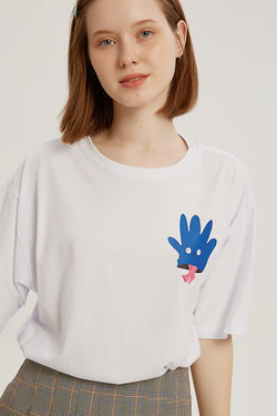 High-Five T-shirt - Bone White
