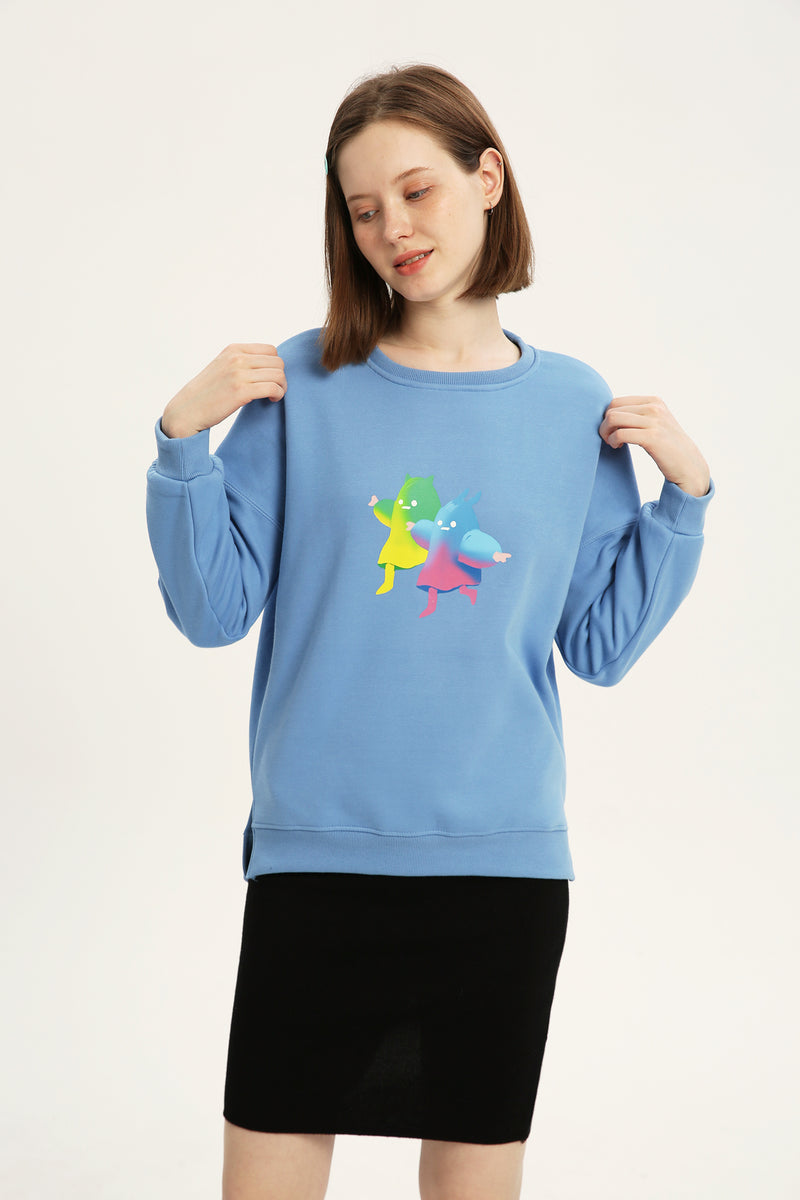 Ghosted Sweatshirt - Fog Blue