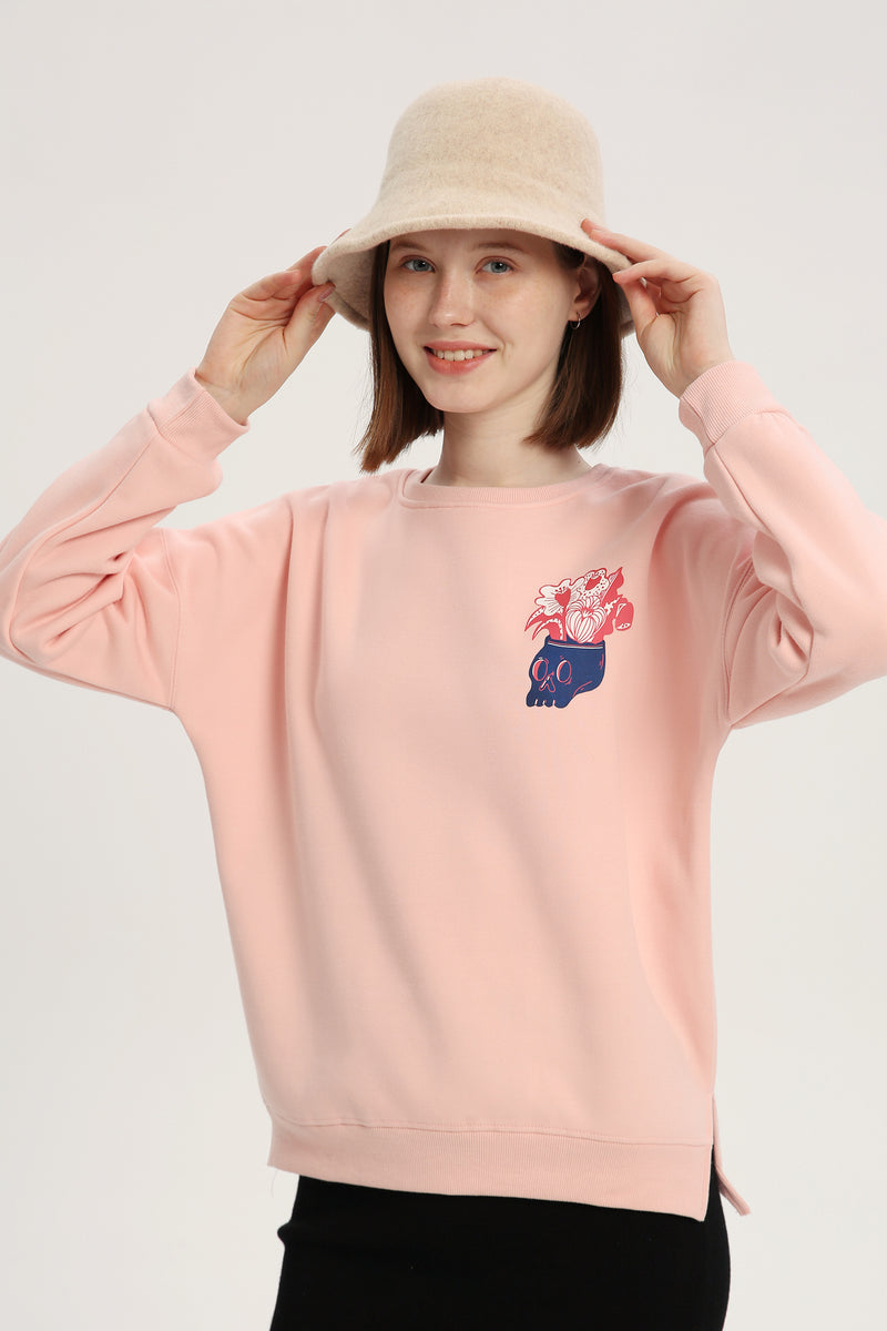 Bloom My Mind Sweatshirt - Lotus Pink