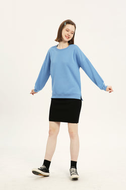 Plain Sweatshirt - Fog Blue