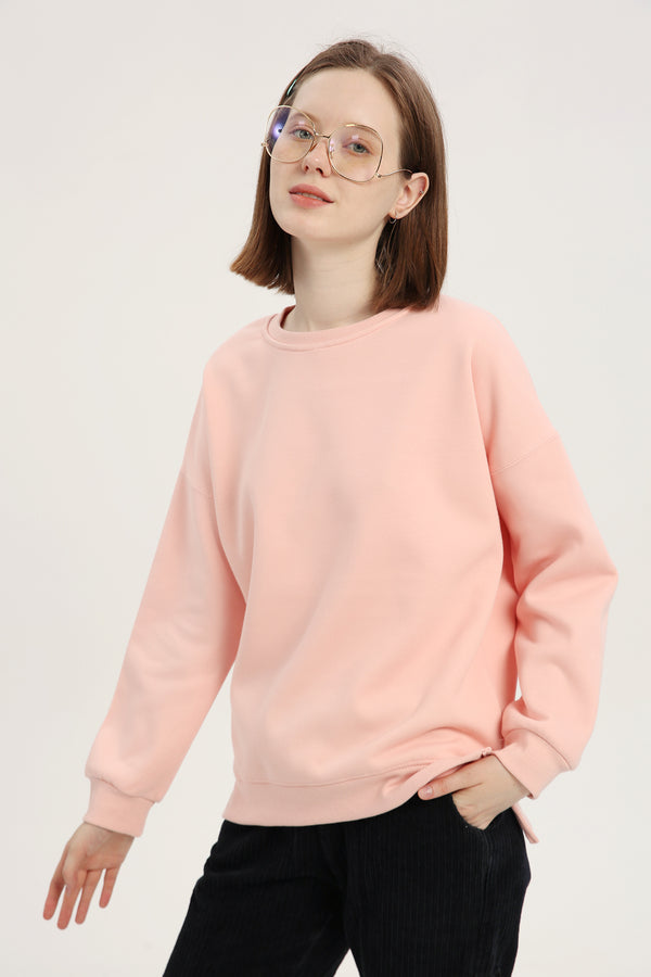 Plain Sweatshirt - Lotus Pink