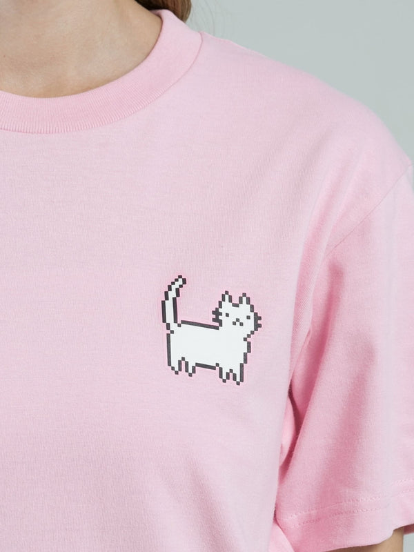 Cat Person T-Shirt - PEACH PINK