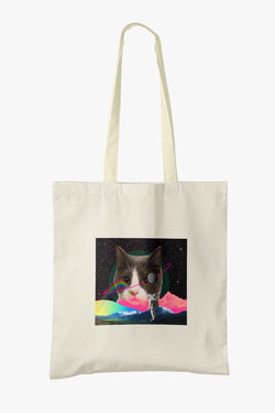 Catoro Arrives in Space Tote Bag