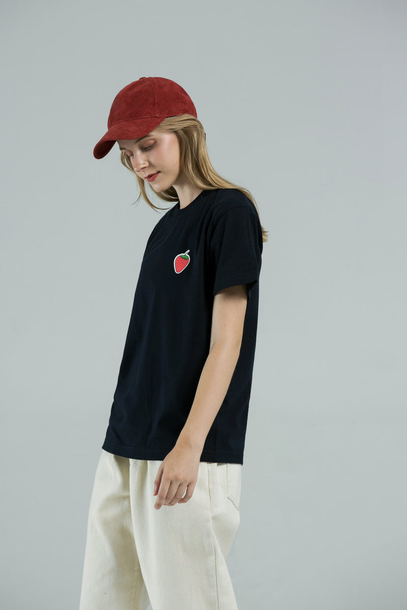 Real Strawberry T-Shirt - BLACK