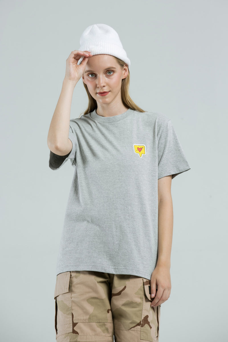 Heart T-Shirt - GREY