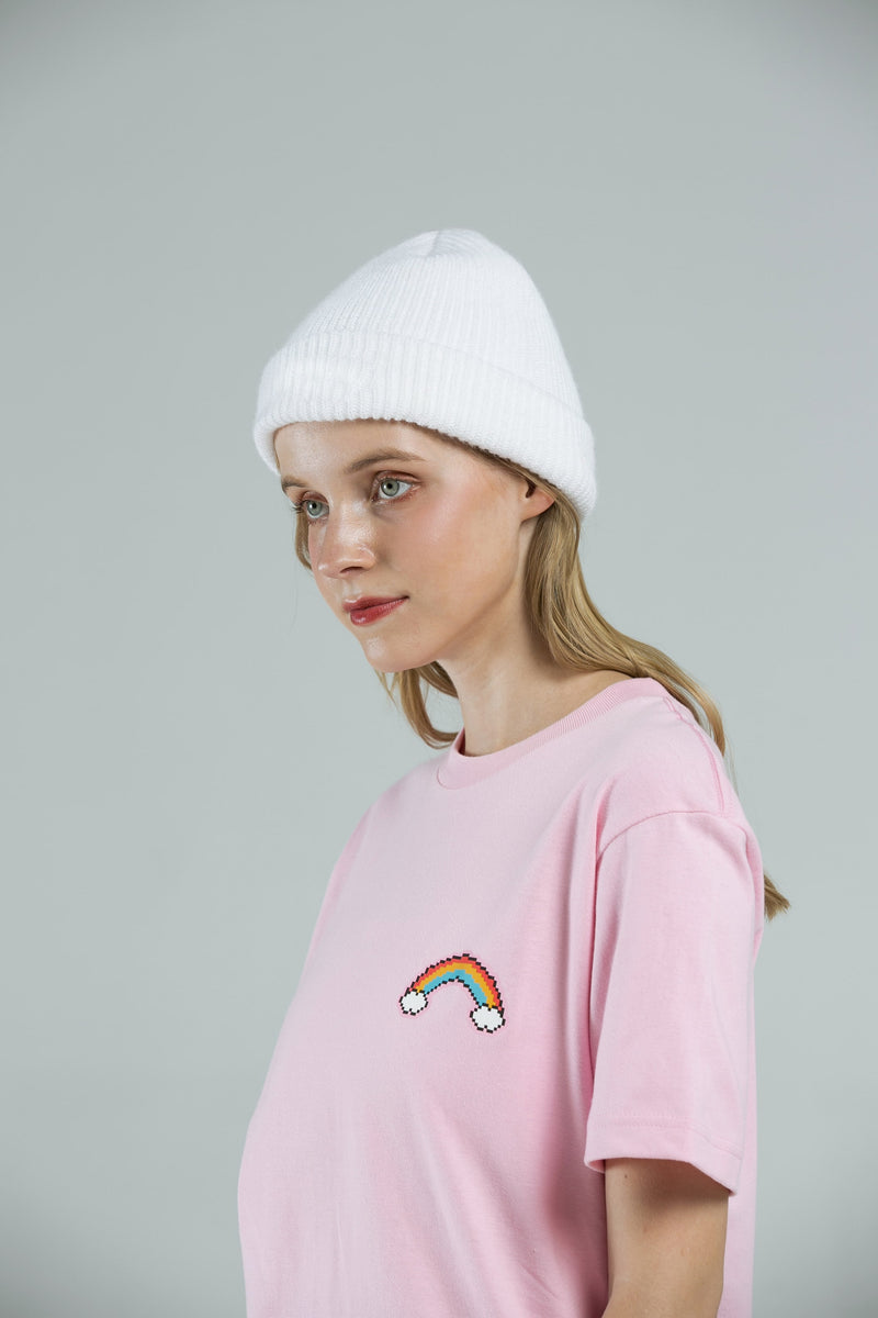 Rainbow T-SHIRT - PEACH PINK