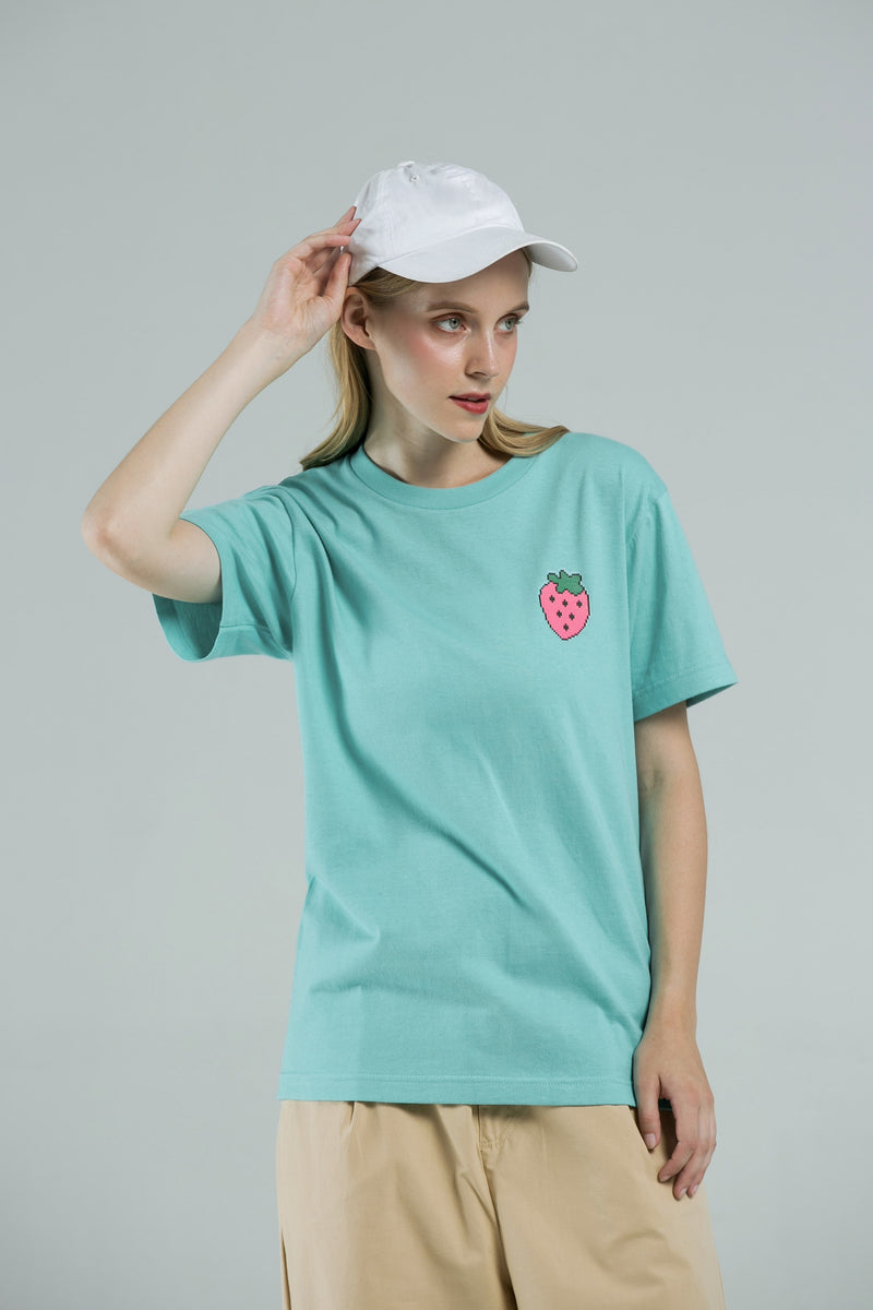 Your Strawberry T-SHIRT - WATER GREEN