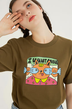 More Fish T-Shirt - Olive Green