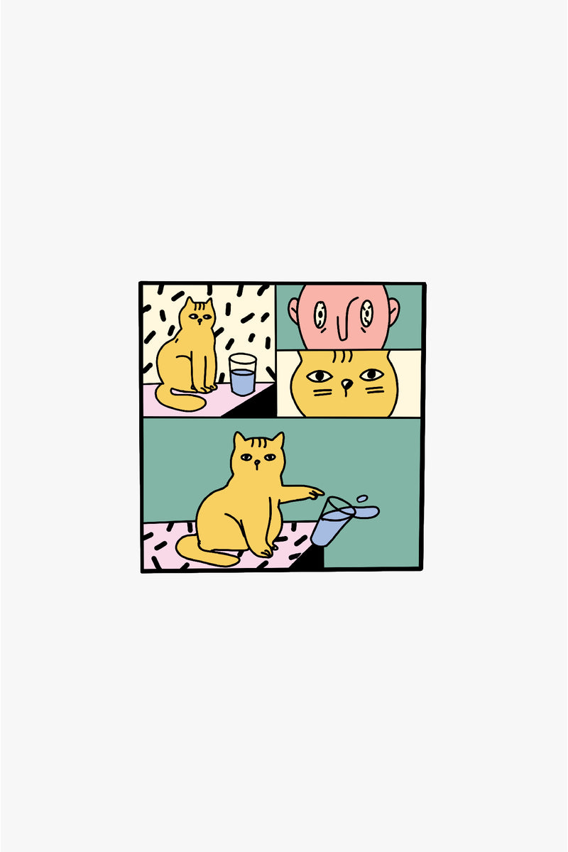 Cat Yonkoma Tote Bag