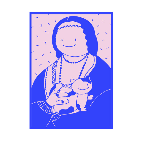 Renaissance Lady with a Renaissance Cat Tote Bag