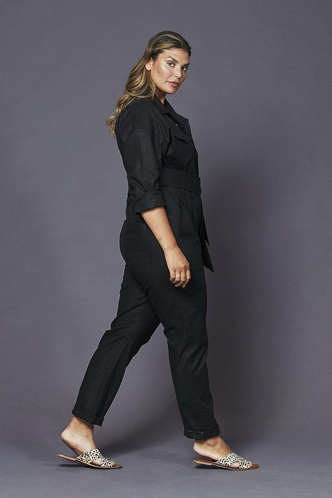 raquel boiler suit black