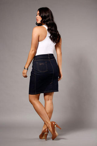 Fever Ink Denim Skirt