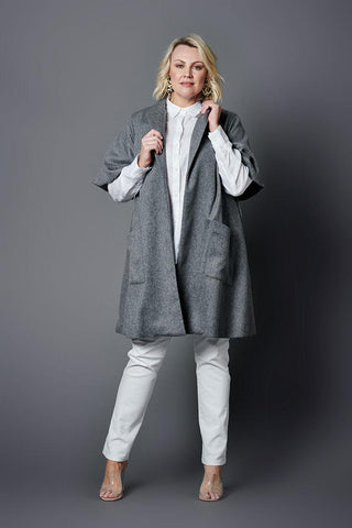 Audrey Grey Trench Jacket