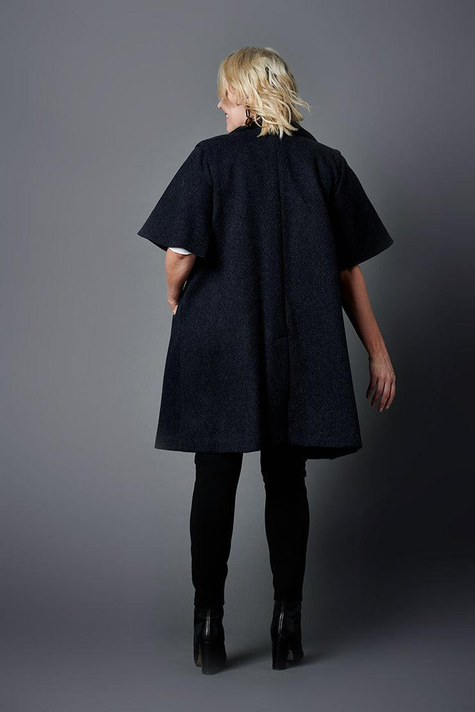 audrey navy trench jacket