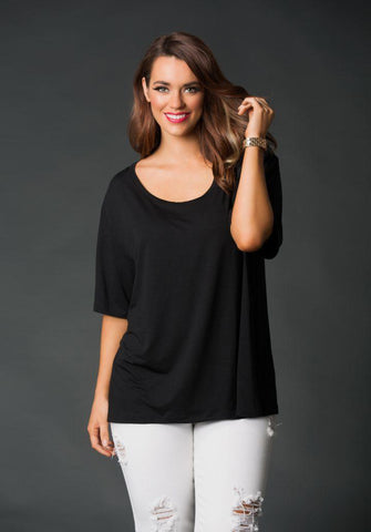 Paris Black Tee