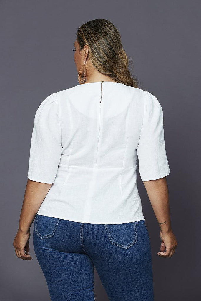 grace linen blouse