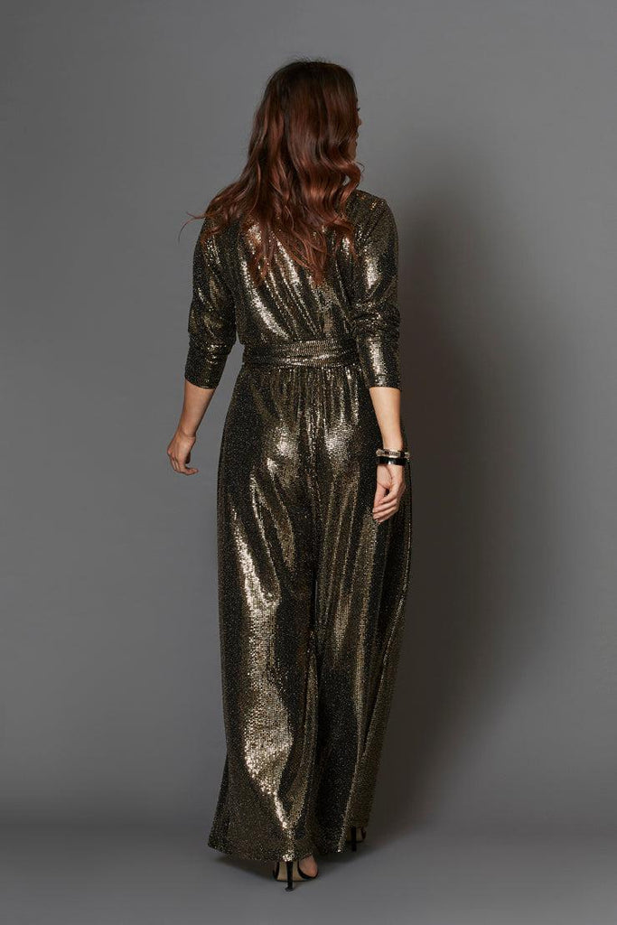 cleo jumpsuit gold