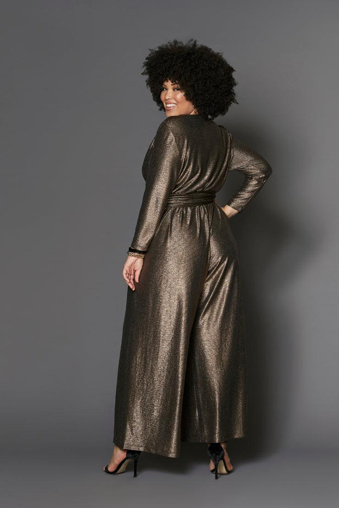 helena jumpsuit gold