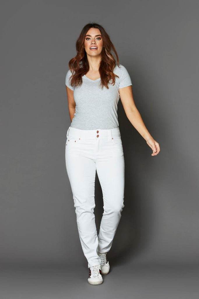 tempt arctic white narrow jean