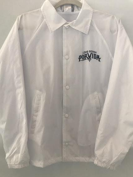 LBPV Logo White Button Up Coaches/Windbreaker Jacket