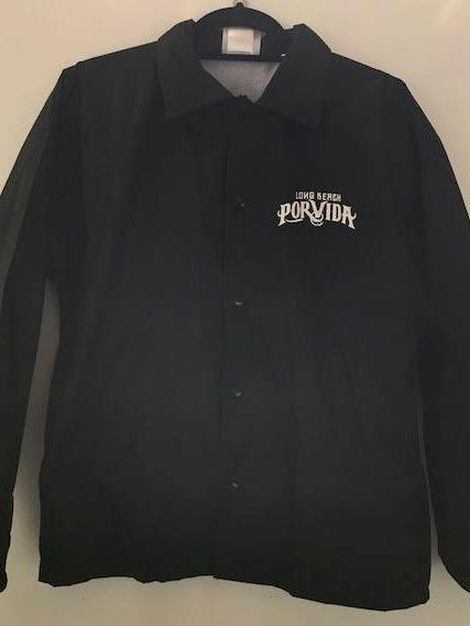LBPV Logo Black Button Up Coaches/Windbreaker Jacket