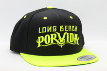 Load image into Gallery viewer, Black/Neon Yellow Snapback Hat