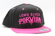 Load image into Gallery viewer, Black/Pink Snapback Hat