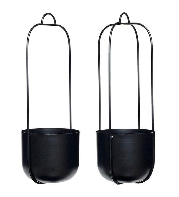 Hübsch Black Iron Hanging Planter