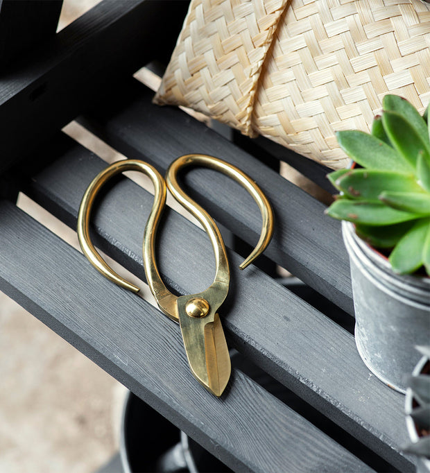 Garden Scissors with Bamboo Bag