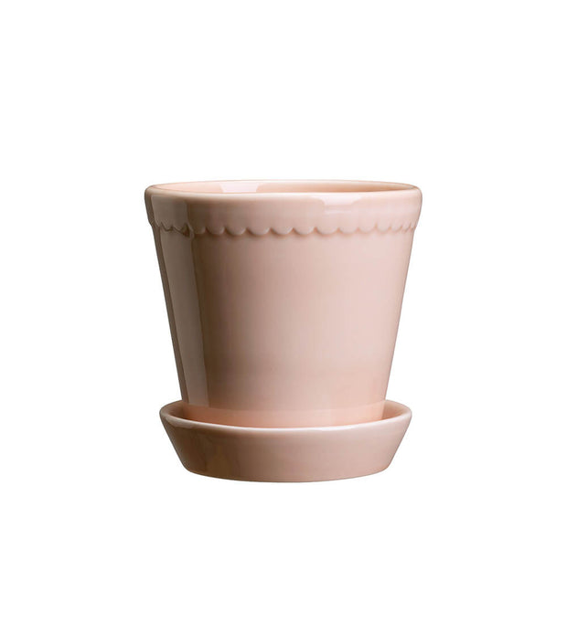 Bergs Potter Medium Helena Glazed Plant Pot & Saucer