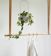 Hübsch Grey Hanging Planter