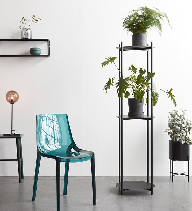 Black Planter with Stand