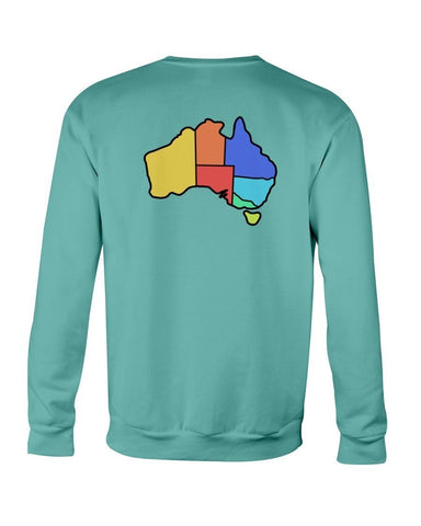 Australia Map Crew Neck - Slacktyde