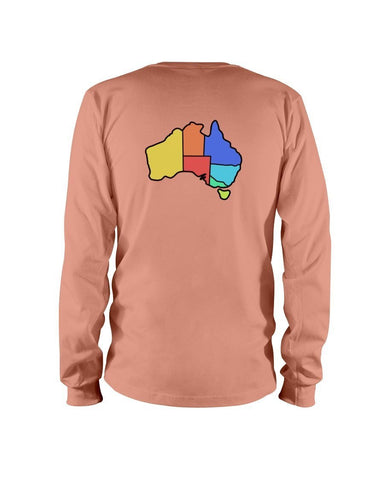 Australia Map Long Sleeve Tee - Slacktyde