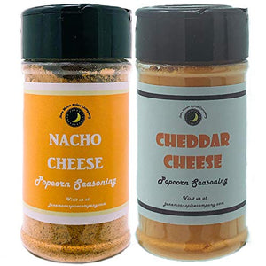 CHEDDAR Lovers POPCORN SEASONING | Variety 2 Pack | Nacho Cheddar | Cheddar Cheese