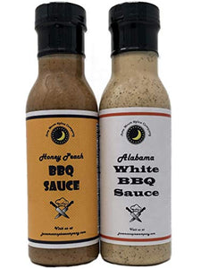 BBQ Sauce | Variety 2 Pack | Alabama White BBQ Sauce | Honey Peach BBQ Sauce