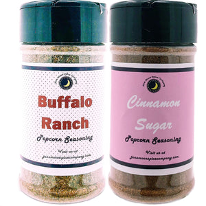 Popcorn Seasoning 2 Pack | Cinnamon Sugar | Buffalo Ranch