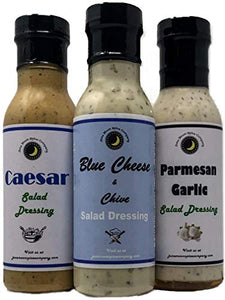 Caesar | Blue Cheese & Chives | Parmesan Garlic | Salad Dressing 3 Pack