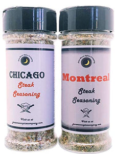 Steak Seasoning Variety 2 Pack | Chicago Steak Seasoning | Montreal Steak Seasoning