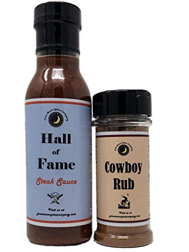 Steak Combo Variety 2 Pack | Hall of Fame Steak Sauce | Cowboy Rub