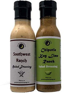 Southwest Ranch | Chipotle Key Lime Ranch | Salad Dressing 2 Pack