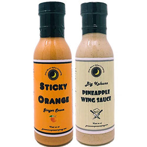 Sticky Orange Ginger Sauce | Big Kahuna Pineapple Sauce | Asian Sauce Variety 2 Pack
