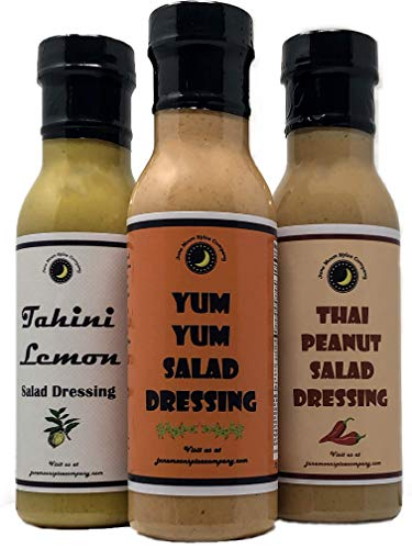 Tahini Lemon | Thai Peanut | Yum Yum | Salad Dressing Variety 3 Pack