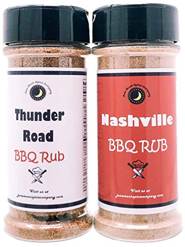BBQ Seasoning Variety 2 Pack | Thunder Road Sweet-n-Smoky Rub | Nashville BBQ Rub