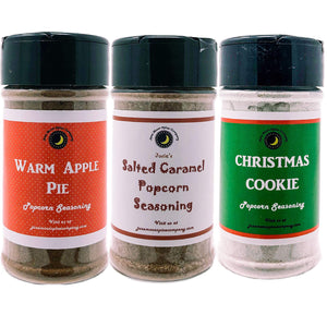 Popcorn Seasoning 3 Pack | Salted Caramel | Warm Apple Pie | Christmas Cookie