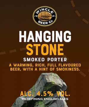 Seasonal Ale: Hanging Stone Smoked Porter (Alc.4.5%) 12 x 500ml bottles
