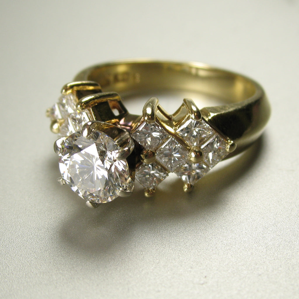 Ring Redesign Before And After Pink Diamond Halo Engagement Ring By