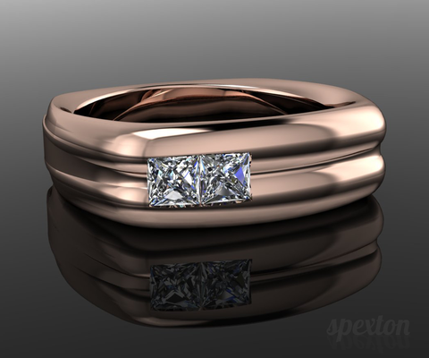 Diamond wedding band by Spexton Jewelry Store in Tulsa Oklahoma