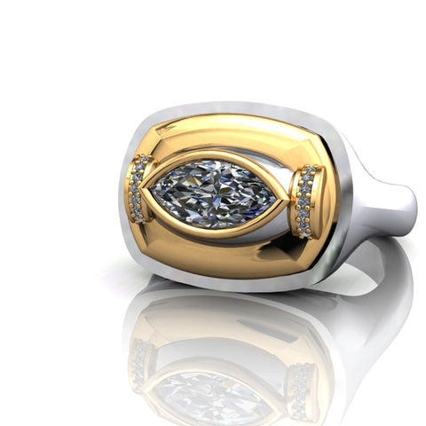 Spexton Jewelry custom signet diamond ring design