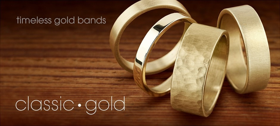 Classic Gold: Timeless gold bands